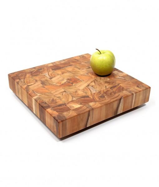 Schneideblock quadratisch Teakholz